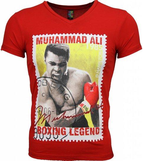 Local Fanatic T-shirt - Muhammad Ali Zegel Print - Rood