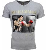 Local Fanatic T-shirt - Muhammad Ali Glossy Print - Grijs