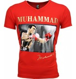 Local Fanatic T-shirt - Muhammad Ali Glossy Print - Rood