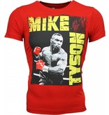 Local Fanatic T-shirt - Mike Tyson Glossy Print - Rood