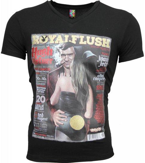 Local Fanatic T-shirt - Royal Flush Glossy Print - Zwart