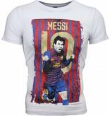 Local Fanatic T-shirt - Messi 10 Print - Wit