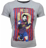 Local Fanatic T-shirt - Messi 10 Print - Grijs