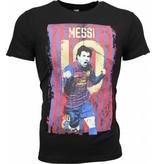 Local Fanatic T-shirt - Messi 10 Print - Zwart