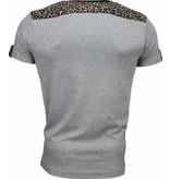 David Copper T-shirt - Tijger Print Motief - Grijs