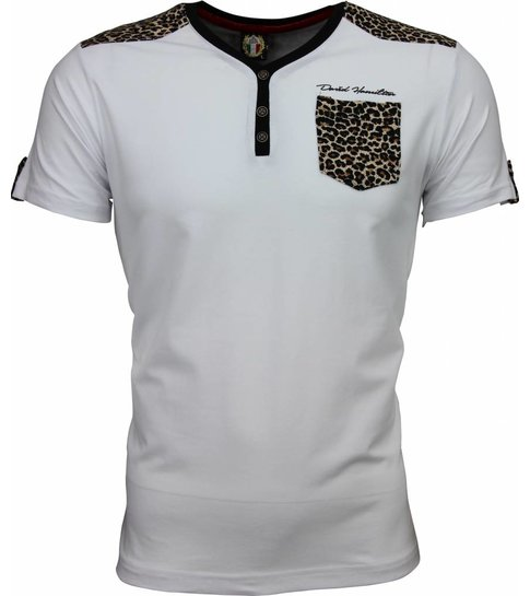 David Copper T-shirt - Tijger Print Motief - Wit