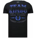 Local Fanatic Kimbo Slice - Rhinestone T-shirt - Zwart