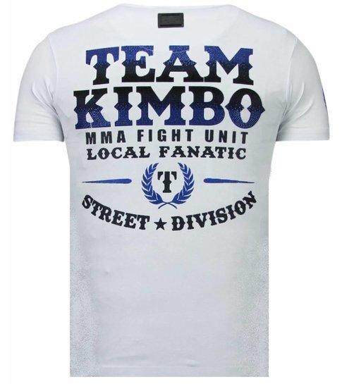 Local Fanatic Kimbo Slice - Rhinestone T-shirt - Wit