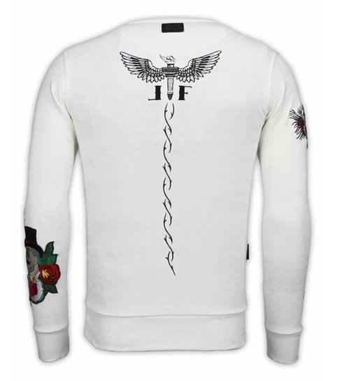 Local Fanatic McGregor Notoriuous Tattoo - Embroidery Sweater - Wit