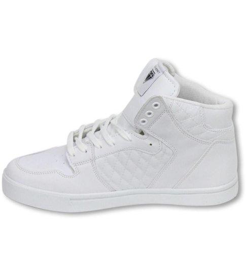Cash Money Heren Schoenen - Heren Sneaker High - Jailor White Matt