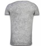 Hey Boy Exclusief Dip Dye T-shirt - Colour Leaf - Grijs