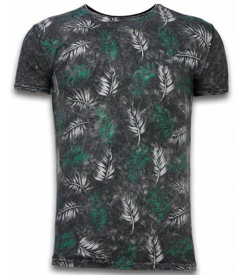 Hey Boy Exclusief Dip Dye T-shirt - Colour Leaf - Zwart