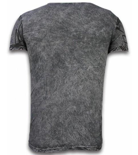 Hey Boy Exclusief Dip Dye T-shirt - Scratches - Grijs