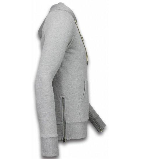 Bread & Buttons Casual Vest - Sweater Heren Side Zippers - Grijs