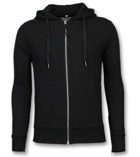 Bread & Buttons Casual Vest - Sweater Heren Side Zippers - Zwart