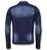 True Rise Spijkerjasje - Stone Wash Spijkerjasje Heren Denim Jacket - Donker Blauw