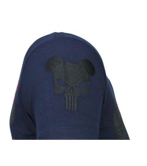 Local Fanatic Punisher Mickey - Rhinestone T-shirt - Navy
