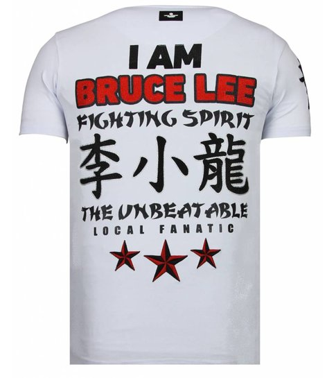 Local Fanatic Fighter Legend - Rhinestone T-shirt - Wit