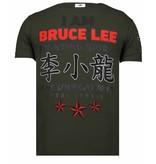 Local Fanatic Fighter Legend - Rhinestone T-shirt - Khaki