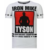 Local Fanatic Iron  Mike Tyson - Rhinestone T-shirt - Wit