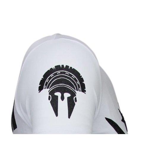 Local Fanatic Notorious Warrior - McGregor Rhinestone T-shirt - Wit
