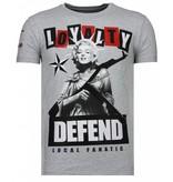 Local Fanatic Loyalty Marilyn - Rhinestone T-shirt - Grijs