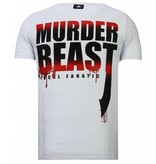 Local Fanatic Hunter Duck - Rhinestone T-shirt - Wit