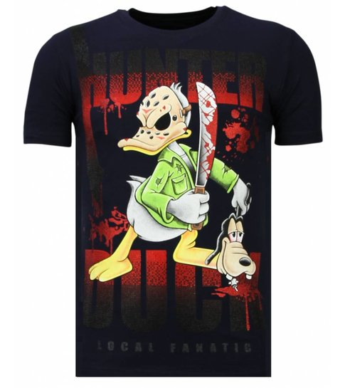Local Fanatic Hunter Duck - Rhinestone T-shirt - Navy