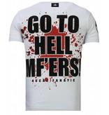 Local Fanatic Glory Martial - Rhinestone T-shirt - Wit