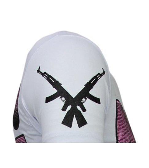 Local Fanatic Milf Hunter - Rhinestone T-shirt - Wit