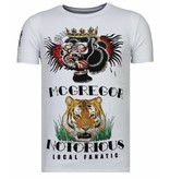 Local Fanatic McGregor Tattoo - Rhinestone T-shirt - Wit