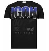 Local Fanatic Like A Boss - Rhinestone T-shirt - Zwart