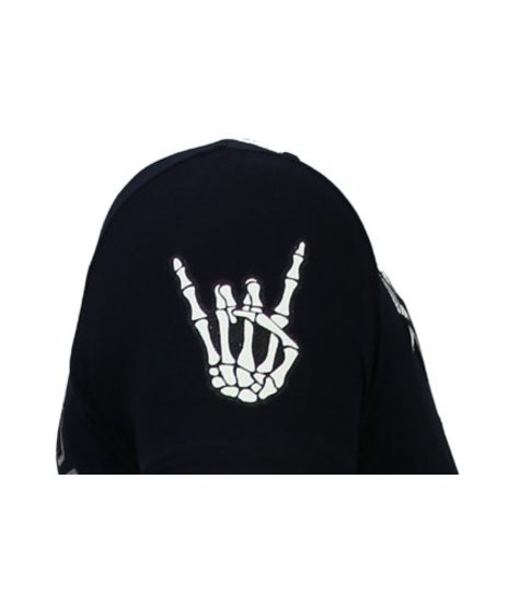 Local Fanatic Hellboy - Rhinestone T-shirt - Navy