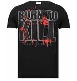 Local Fanatic Killer Bunny - Rhinestone T-shirt - Zwart