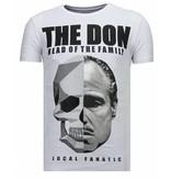Local Fanatic The Don Skull - Rhinestone T-shirt - Wit
