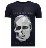 Local Fanatic The Don Skull - Rhinestone T-shirt - Navy
