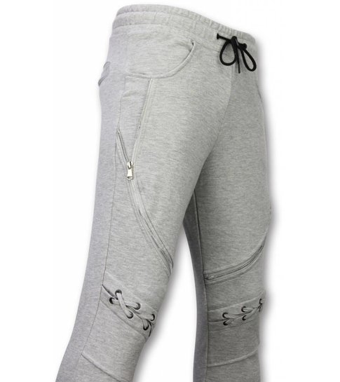 Enos Casual Joggingbroek - Biker Braided - Grijs