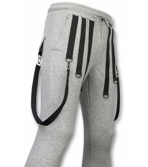 Daniele Volpe Casual Joggingbroek - Basic Braces - Grijs