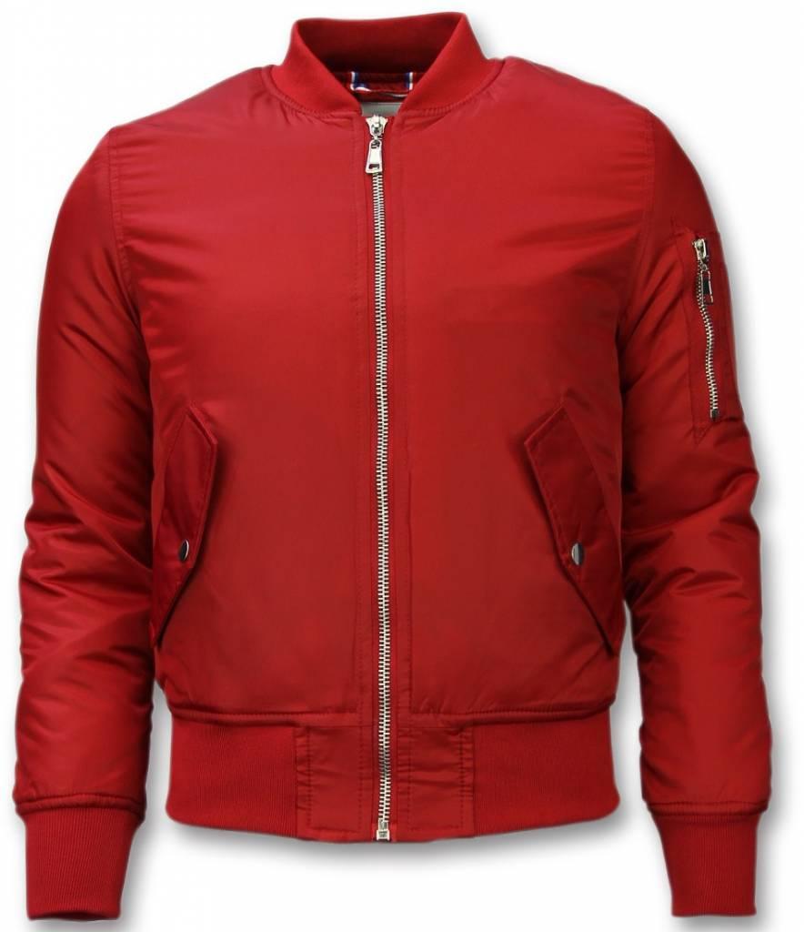 Bomberjack heren bomber jas basic rood for Bomberjack heren