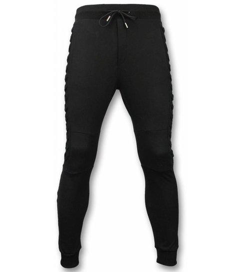 Enos Trainingspakken Basic - Braided Joggingpak - Zwart
