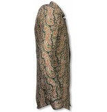 Gentile Bellini Italiaanse Overhemden - Slim Fit Overhemd - Blouse Cashemira Paisley Pattern - Groen