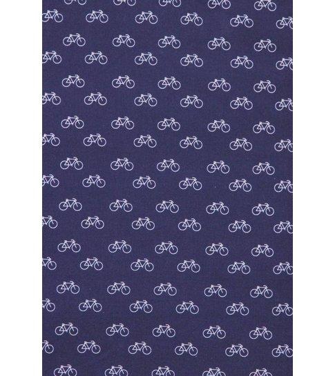TONY BACKER Italiaanse Overhemden - Slim Fit Overhemd - Blouse Bicycle Pattern - Blauw