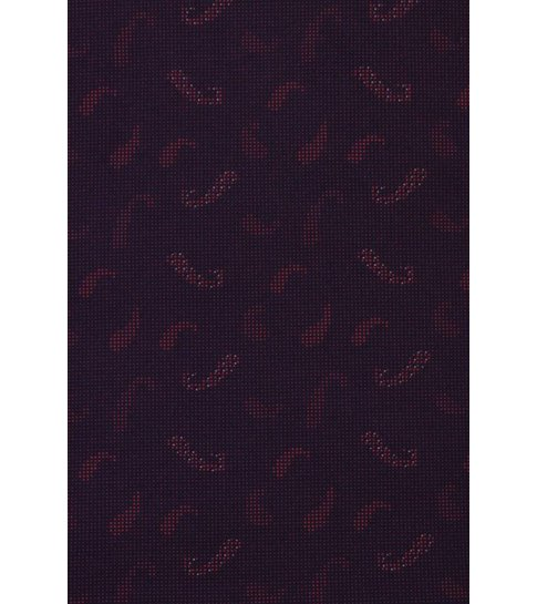 TONY BACKER Italiaanse Overhemden - Slim Fit Overhemd - Blouse Yang Pattern - Bordeaux