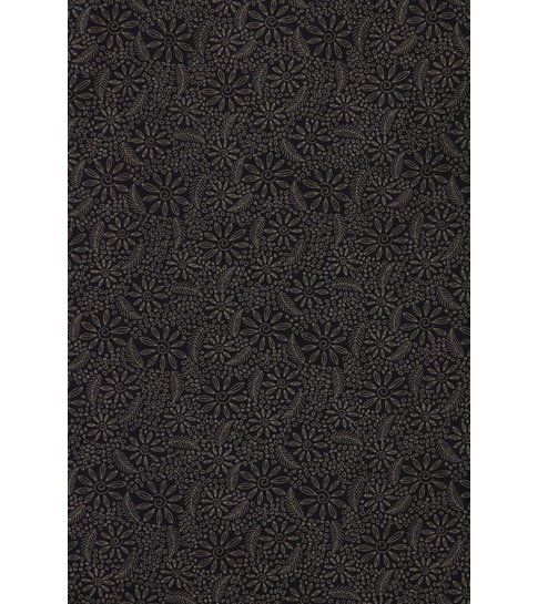 Gentile Bellini Italiaanse Overhemden - Slim Fit Overhemd - Blouse Lotus Pattern - Zwart