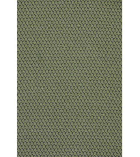 TONY BACKER Italiaanse Overhemden - Slim Fit Overhemd - Blouse Reptile Skin Pattern - Groen