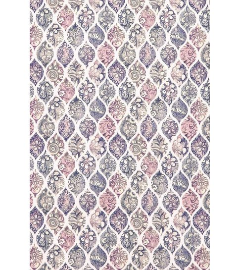 TONY BACKER Italiaanse Overhemden - Slim Fit Overhemd - Blouse Pastel Flower Pattern - Wit