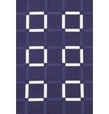 TONY BACKER Italiaanse Overhemden - Slim Fit Overhemd - Blouse Block Pattern - Blauw