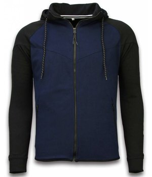 Style Italy Trainingspakken Windrunner Basic - Zwart / Blauw