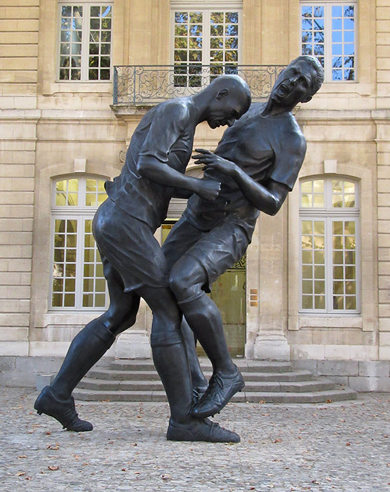 Zinedine Zidane Kopstoot Standbeeld