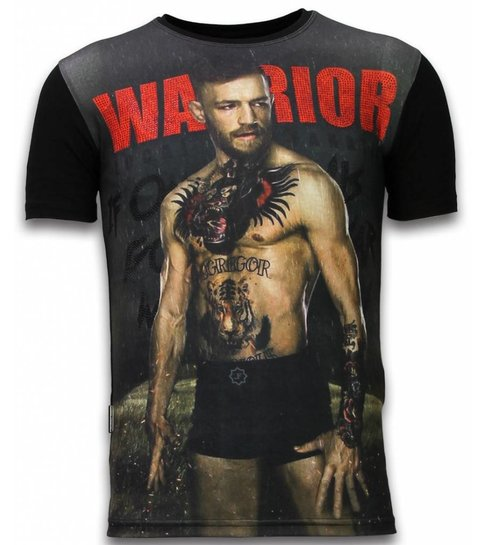 Local Fanatic McGregor Warrior - Digital Rhinestone T-shirt - Zwart